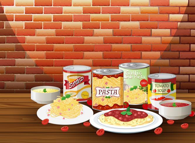 Juego de pasta con salsa diferente.
