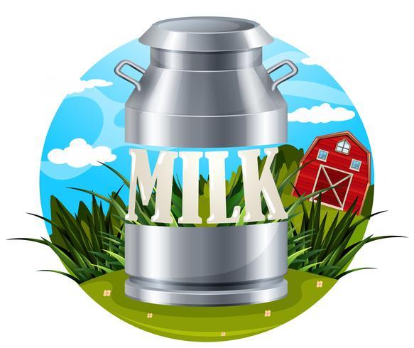 Mjölkmatikett med text