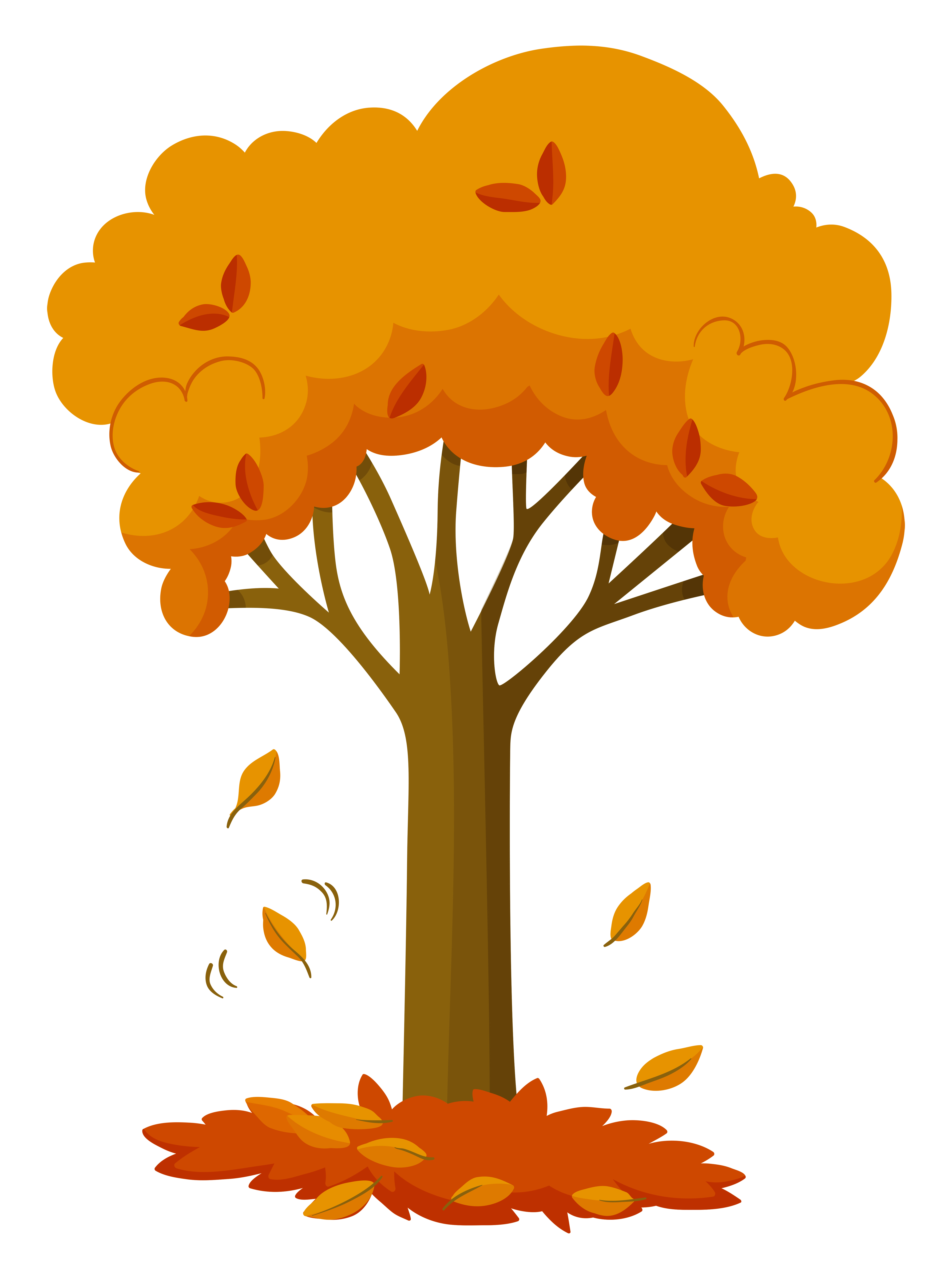 Dry leaves falling off the tree - Download Free Vectors ...