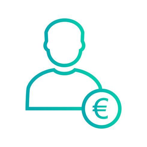 Euro con el icono de Vector de hombre