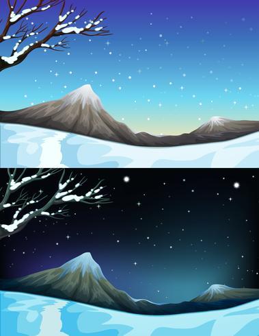 Natuurscène tijdens de winter