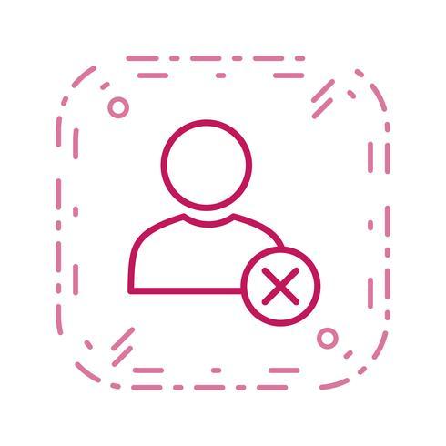 Eliminar icono de vector de usuario
