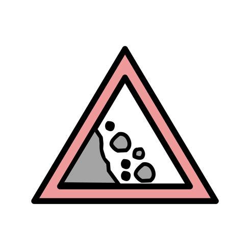 Vector icono de roca caída