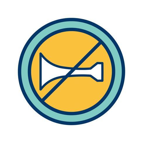 Vector dispositivos de aviso sonoro proibido ícone