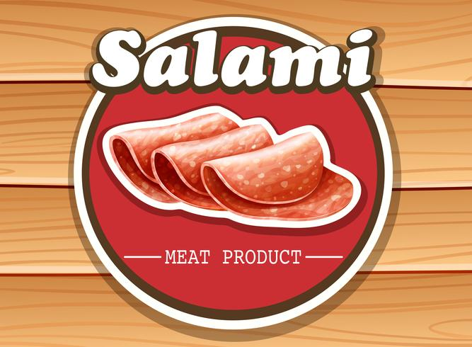 Salami vecteur