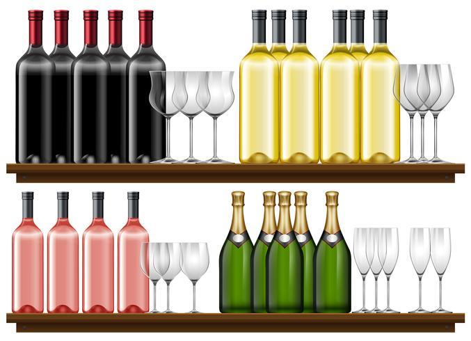 Set di vino diverso