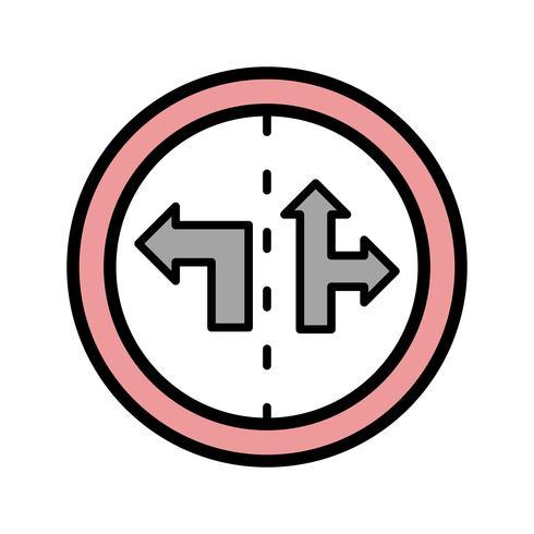 Icona di segno di controllo di corsia di vettore