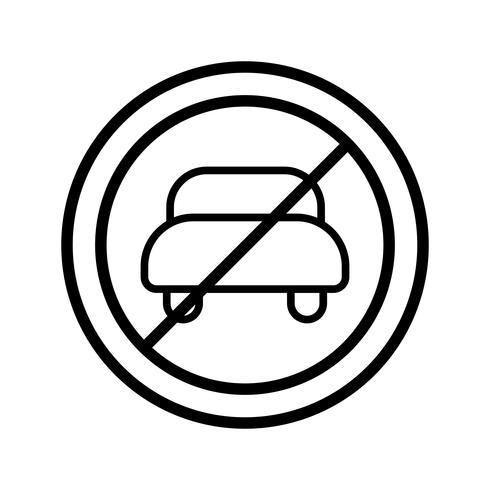 Vector No hay entrada para icono de vehículo de motor