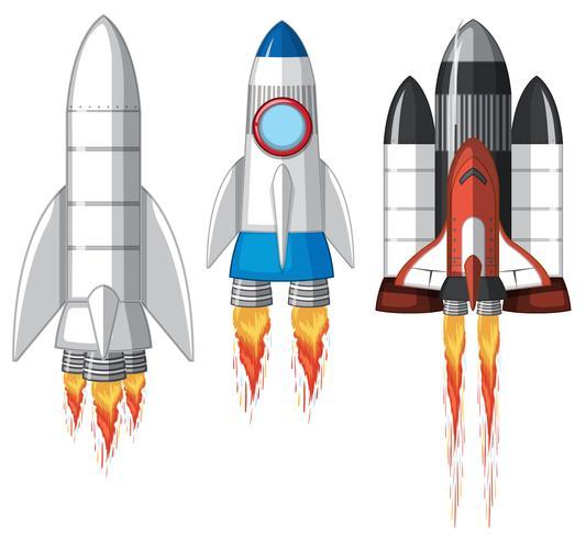 Un conjunto de cohete espacial
