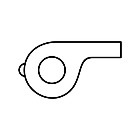 Icono de Vector de silbato