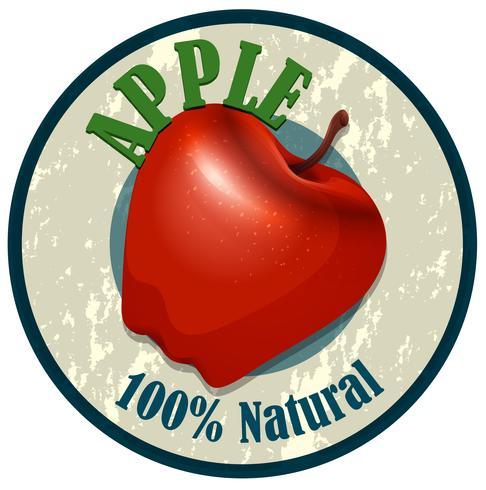 Etiqueta de la comida de Apple en blanco
