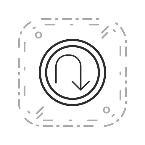 Vektor U-sväng Ikon
