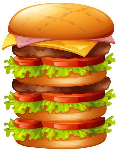 Hamburger avec plusieurs couches