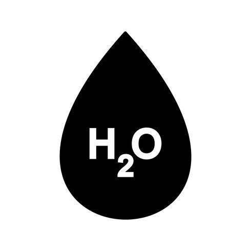H2O-Vektor-Symbol