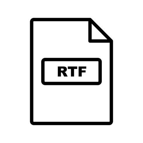 icono de vector rtf