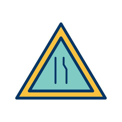 Vector de doble calzada delante icono
