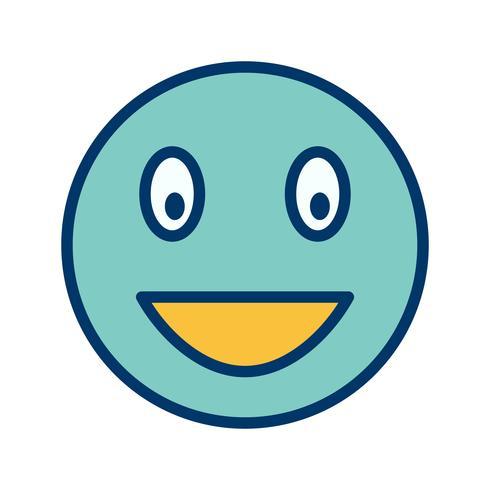 Emoji riendo Vector icono