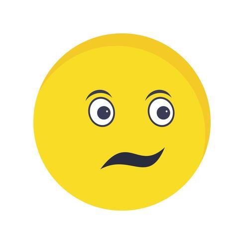 Emoji confundido Vector icono