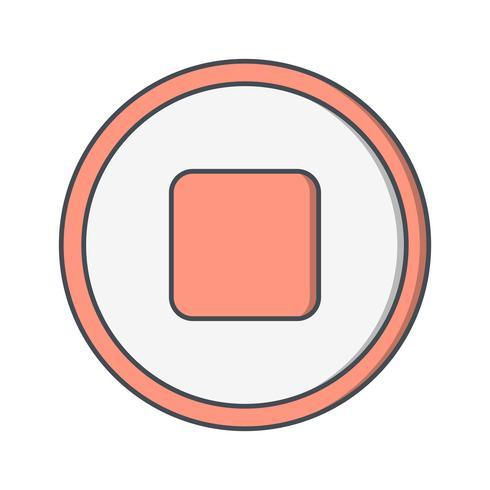 Vektor-Symbol zu stoppen vektor