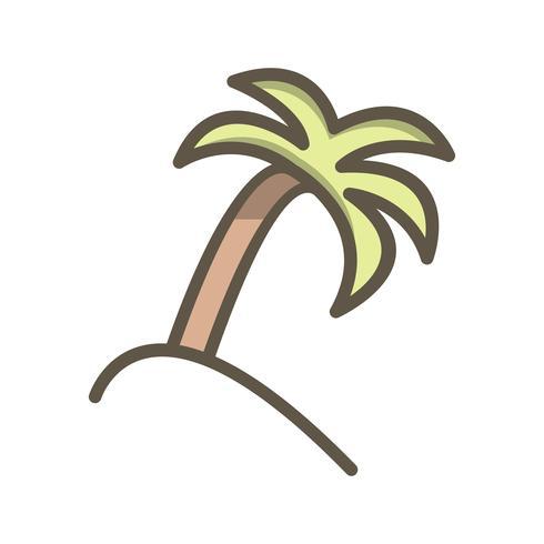 Palmera Vector icono