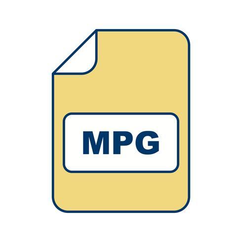 icono de vector mpg