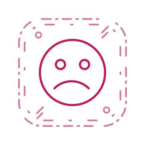 Emoticon triste icona vettoriale