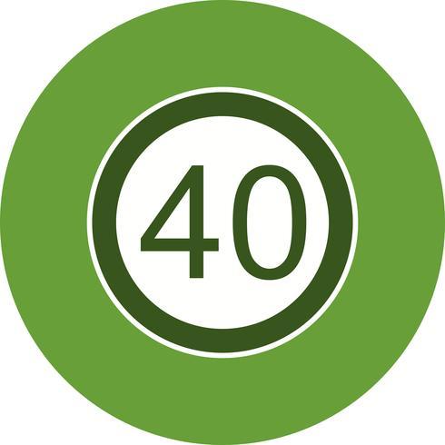Limite de velocidade de vetor 40 ícone