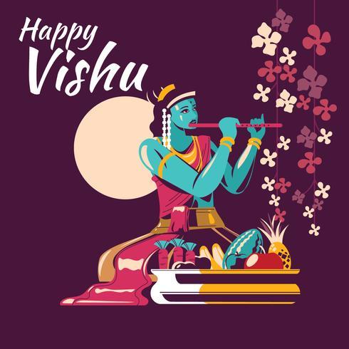Vishu Festival Indien Illustration
