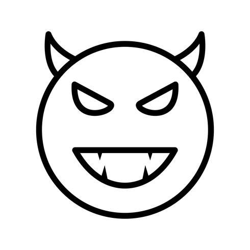 Diabo Emoji Vector Icon