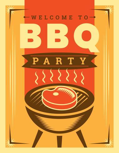 Poster retrò barbecue