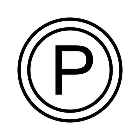 Vector icono de estacionamiento
