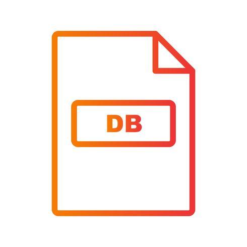 Ícone de vetor de DB
