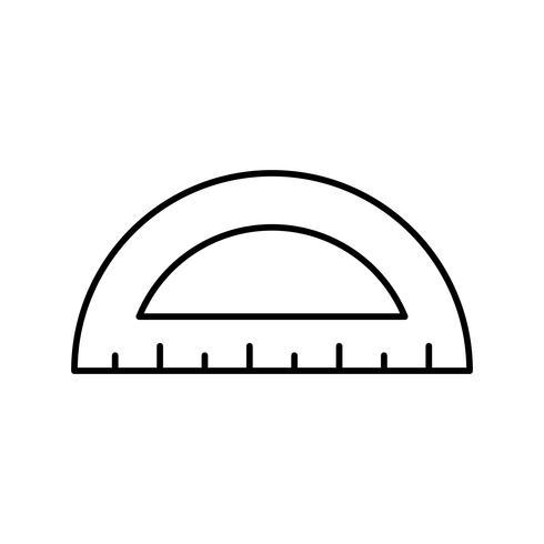 Protractor Vector Icon