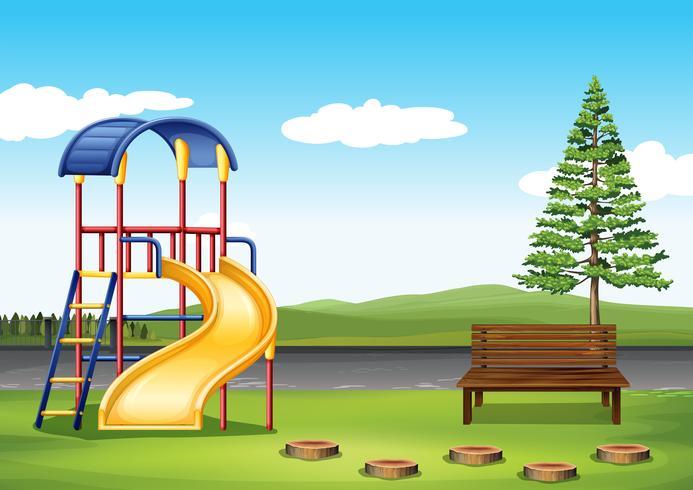 Spielplatz im Park vektor