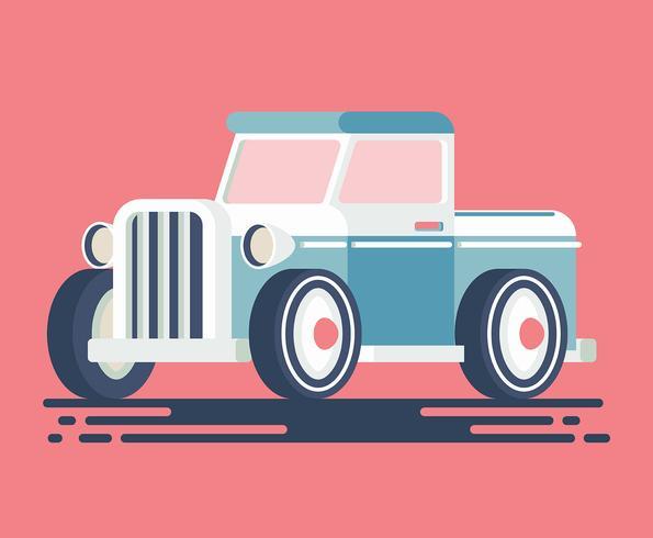 Retro auto illustratie