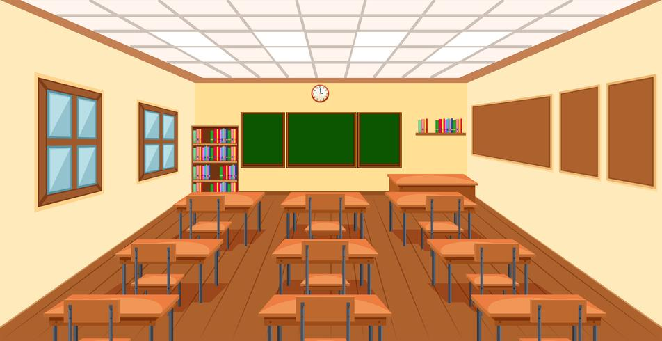 Moderne empthy klaslokaal achtergrond vector