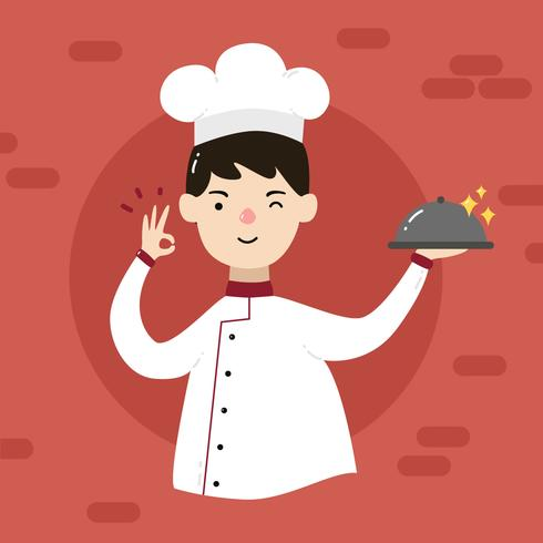 vector de chef chico