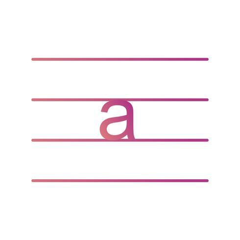 Icono de vector de minúsculas