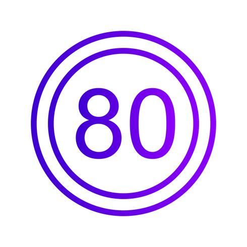 Vector Snelheidslimiet 80 pictogram