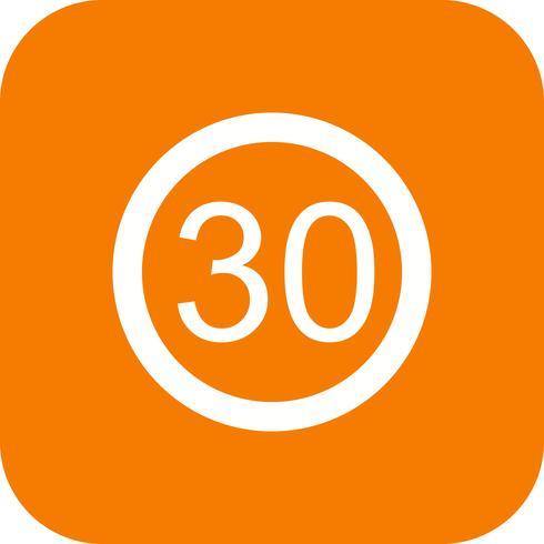 Vector Speed limit 30 Icon