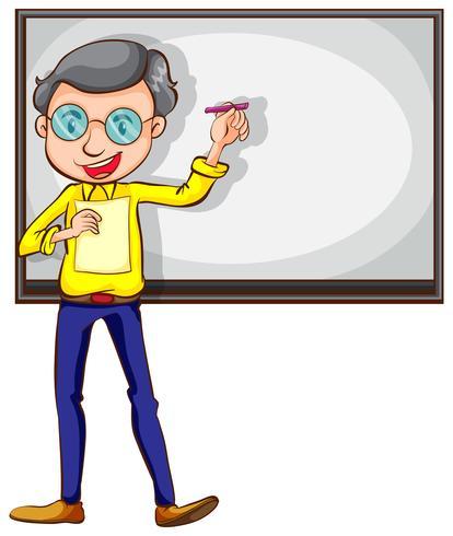 Een eenvoudige schets van een leraar