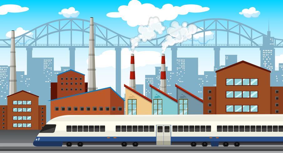 Een moderne industriestad vector
