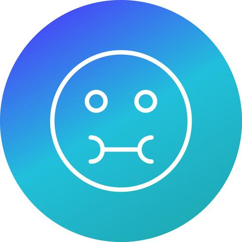 Icona di vettore di Emoji malato
