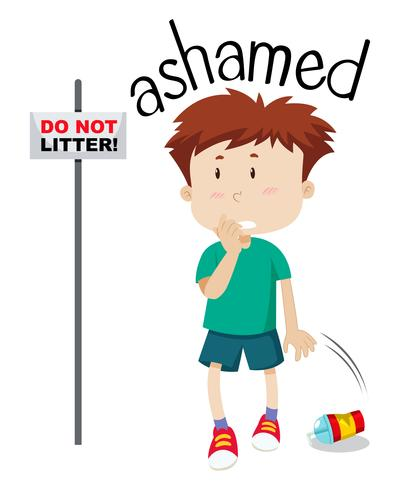 Joven avergonzado imagen
