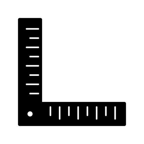 Winkellineal-Vektor-Symbol vektor