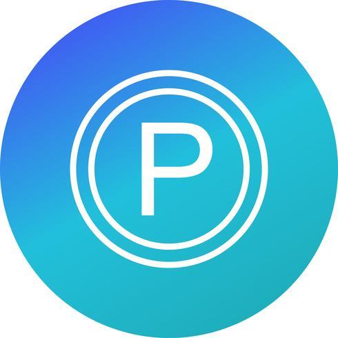 Icona di parcheggio vettoriale