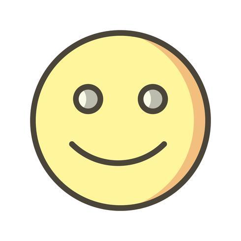 Emoticon felice icona vettoriale