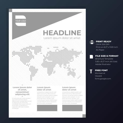 Modèle de fond de mise en page de conception de couverture de brochure