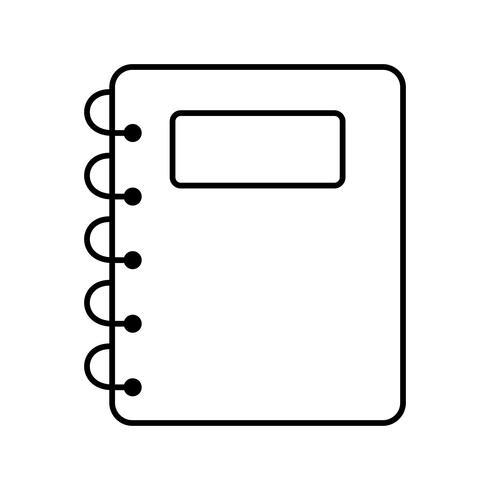 Notizblock-Vektor-Symbol vektor