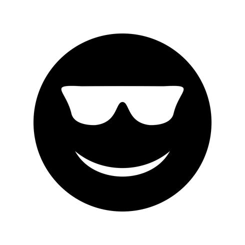 Cool Emoji Vector Icon